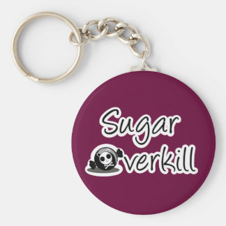 Sugar Overkill Logo Basic Round Button Key Ring