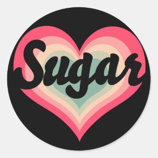 Sugar Pet Name Round Sticker