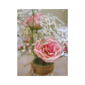 Sugar Pink Rose Canvas Print