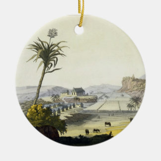 Sugar Plantation, Antilles (colour engraving) Christmas Ornament