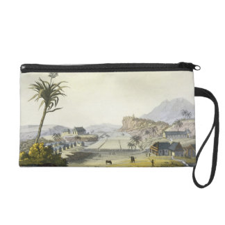 Sugar Plantation, Antilles (colour engraving) Wristlet