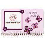Sugar Plum Butterflies Personalised Photo Magnet