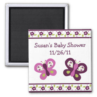 Sugar Plum Butterfly Baby Shower Magnet #2