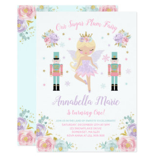 Sugar Plum Fairy Invitation Nutcracker Invitation