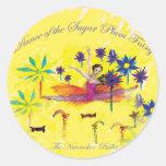 Sugar Plum Fairy Round Stickers