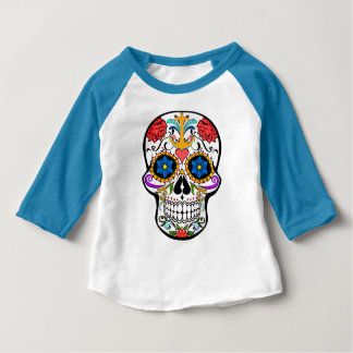 Sugar Skull anchor rose  Custom baby shirt