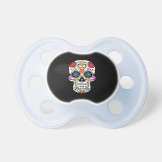 Sugar Skull anchor rose  Custom  baby soother