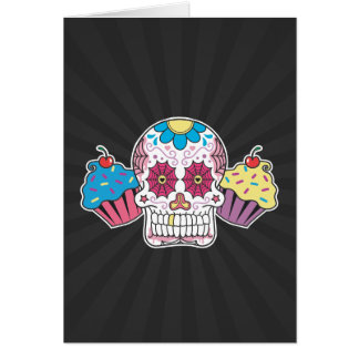 Sugar Skull and Cupcakes Card