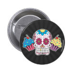 Sugar Skull and Cupcakes Pins