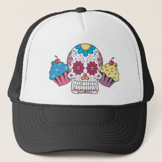 Sugar Skull and Cupcakes Trucker Hat