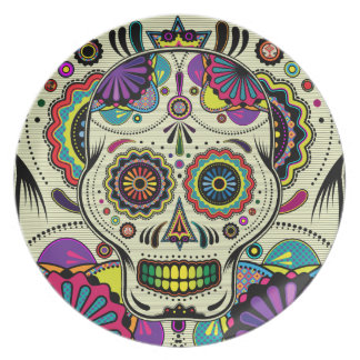 Sugar Skull Art / Day of the Dead plate