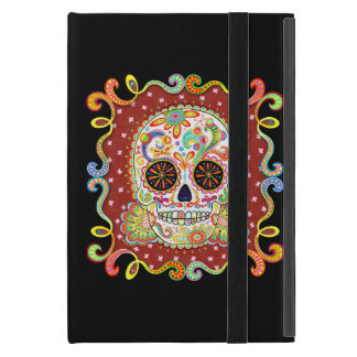 Sugar Skull Art iPad Mini Case with Kickstand