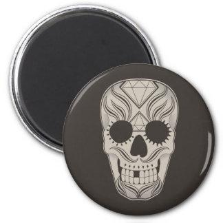 Sugar Skull art magnet