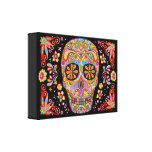 Sugar Skull Art on Canvas - Ready to Hang! Stretched Canvas Print