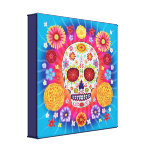 Sugar Skull Art on Canvas - Ready to Hang! Stretched Canvas Prints