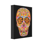 Sugar Skull Art on Canvas - Ready to Hang! Canvas Print