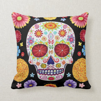 Sugar Skull Art Pillow