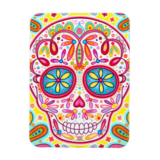 Sugar Skull Art Premium Magnet - Day of the Dead