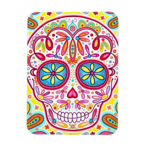 Sugar Skull Art Premium Magnet - Day of the Dead