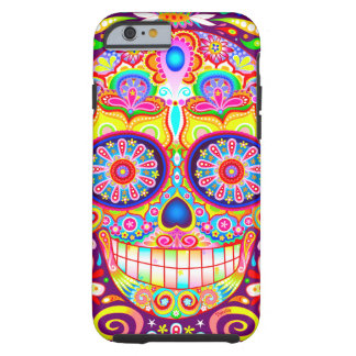 Sugar Skull Art Tough iPhone 6 Case