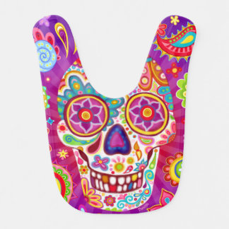 Sugar Skull Baby Bib - Day of the Dead Art
