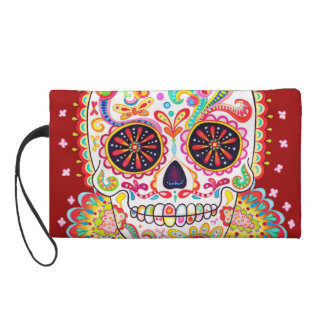 Sugar Skull Bag - Clutch Cosmetic Accessory