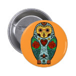 Sugar Skull Barn Owl Pin
