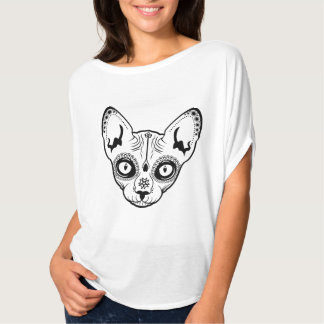 Sugar Skull Boris the cat T-Shirt