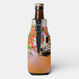 Sugar skull bottle cooler