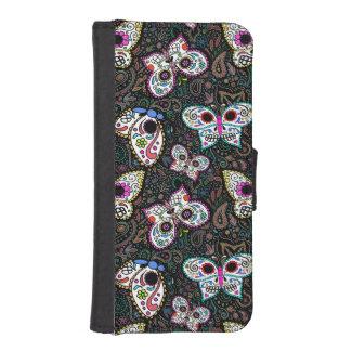 sugar skull butterflies iPhone 6 wallet case