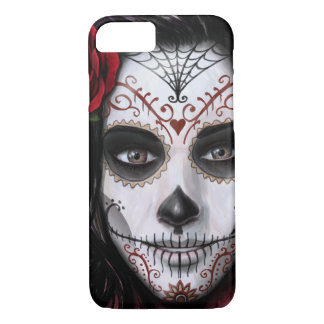 Sugar Skull by Mike Morgan Designs iPhone 8/7 Case