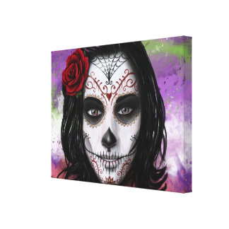 Sugar Skull - by Morgan Designs Canvas Print