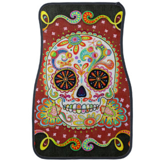 Sugar Skull Car Mats - Front Set of 2