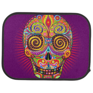 Sugar Skull Car Mats - Rear Set of 2