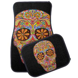 Sugar Skull Car Mats - Set of 4 Car Mats Car Mat