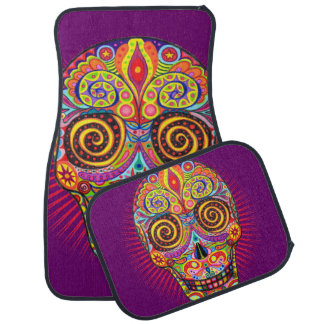 Sugar Skull Car Mats - Set of 4 Mats Car Mat