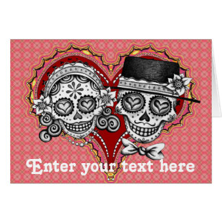 Sugar Skull Cards - Customize with your own text
