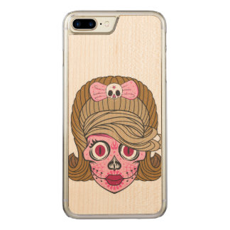 Sugar Skull Carved iPhone 7 Plus Case