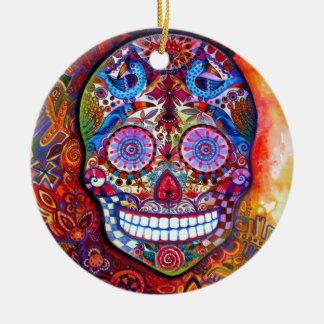 Sugar Skull Christmas Ornament