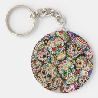 Sugar Skull Collage Keychain