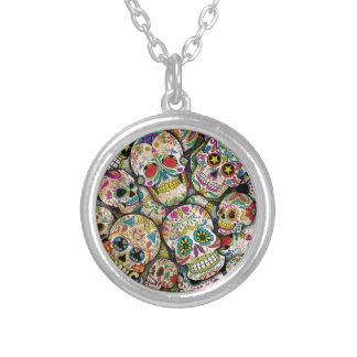 Sugar Skull Collage Necklaces