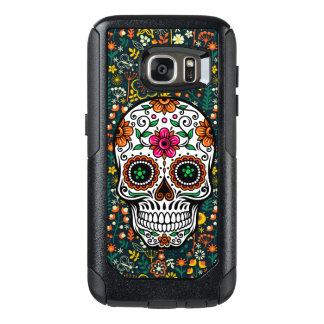 Sugar Skull & Colorful Flowers Illustration OtterBox Samsung Galaxy S7 Case