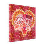 Sugar Skull Couple Art on Canvas - Ready to Hang! Stretched Canvas Print