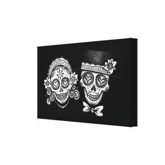 Sugar Skull Couple Canvas Prints