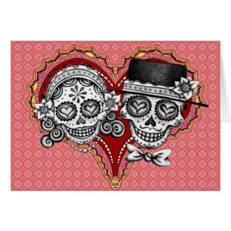 Sugar Skull Couple Cards