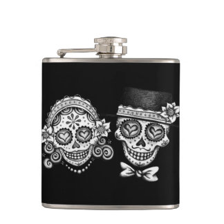 Sugar Skull Couple - Flask