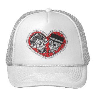 Sugar Skull Couple Hat