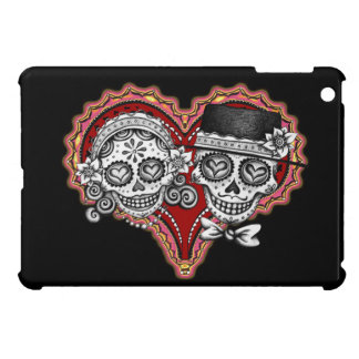 Sugar Skull Couple in Heart iPad Mini Case