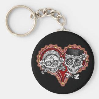 Sugar Skull Couple Keychain