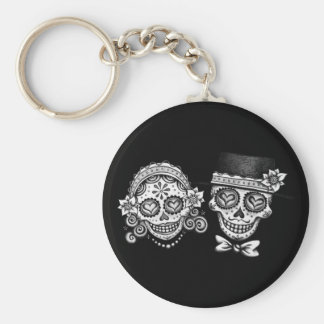 Sugar Skull Couple Keychain